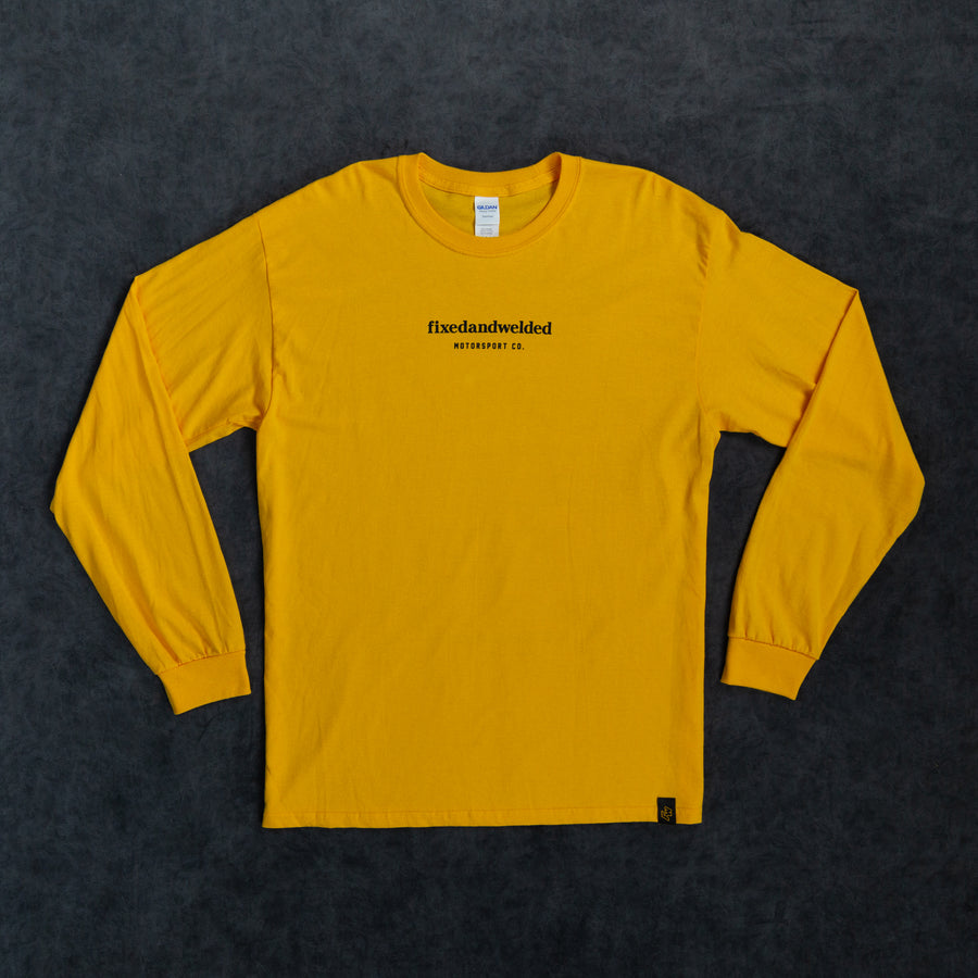 Poem Long-sleeve Tee - Yellow