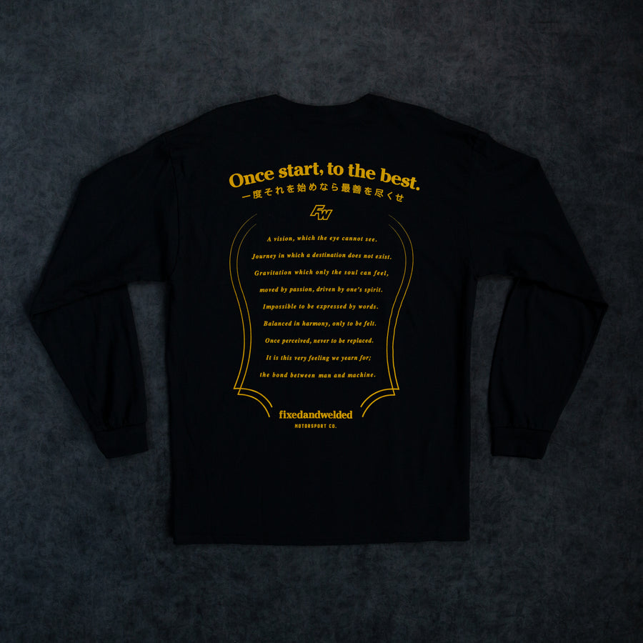 Poem Long-sleeve Tee - Black