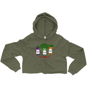 Eat Mor Fruit Crop Hoodie