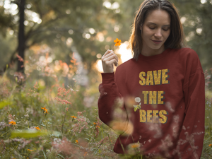 Save the Bees Unisex California Fleece Raglan Sweatshirt