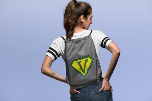 Vegan Superhero Drawstring bag