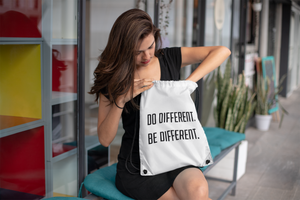 Do Different, Be Different Drawstring bag