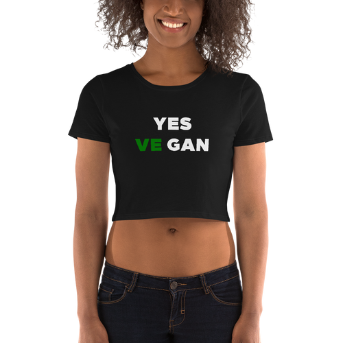 Yes VeGAN Women's Crop Tee