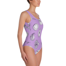 Gettin Figgy With It Purple One-Piece Swimsuit