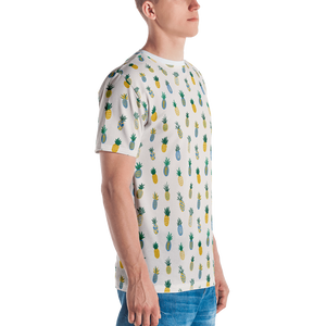 Pineapple Blue & Gold Men's T-shirt
