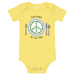 Peas Begins on Your Plate Onesie