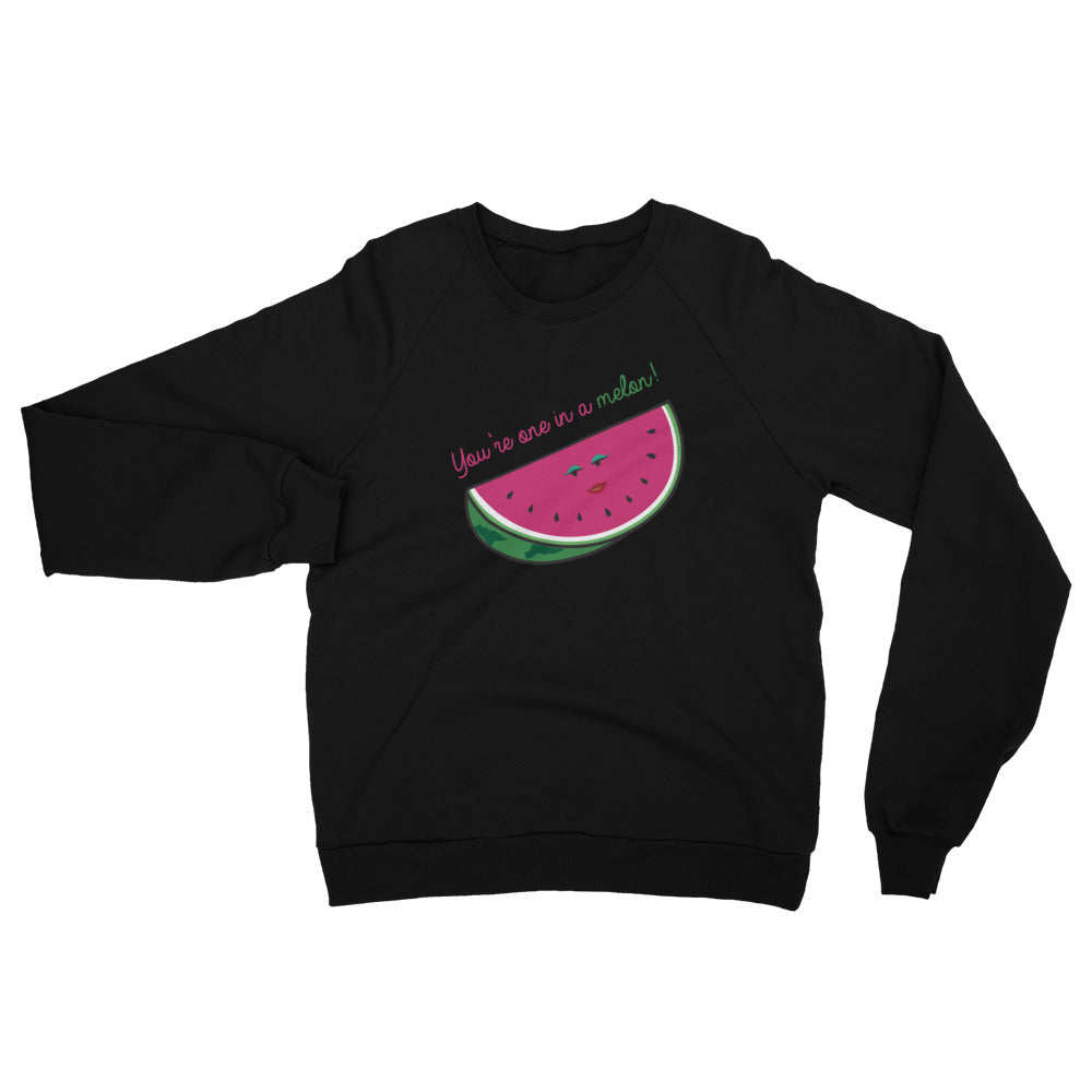 One in a Melon Unisex California Fleece Raglan Sweatshirt