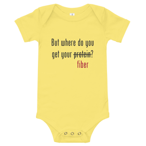 But where do you get your fiber? Onesie
