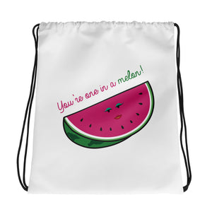 One in a Melon Drawstring bag