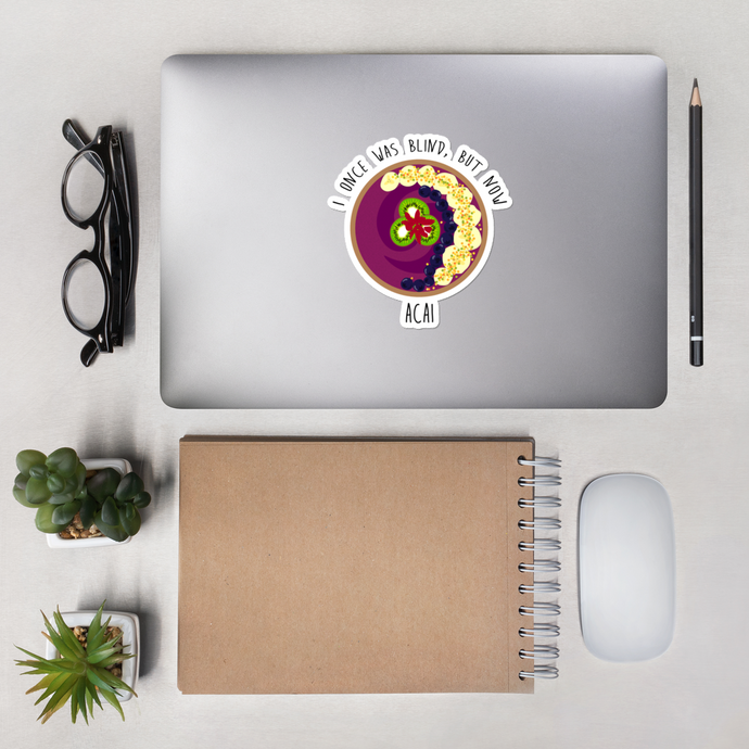 Acai Bowl Die Cut Sticker