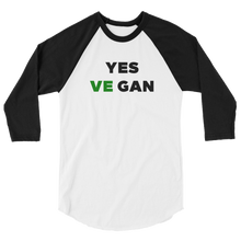Yes VeGAN 3/4 sleeve raglan shirt