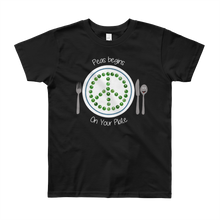 Peas Begins on Your Plate Youth Short Sleeve T-Shirt