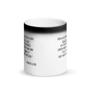 Genesis 1:29 Matte Black Magic Mug