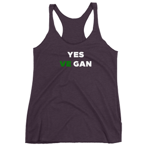 Yes VeGAN Women's Racerback Tank