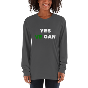 Yes VeGAN Long sleeve t-shirt