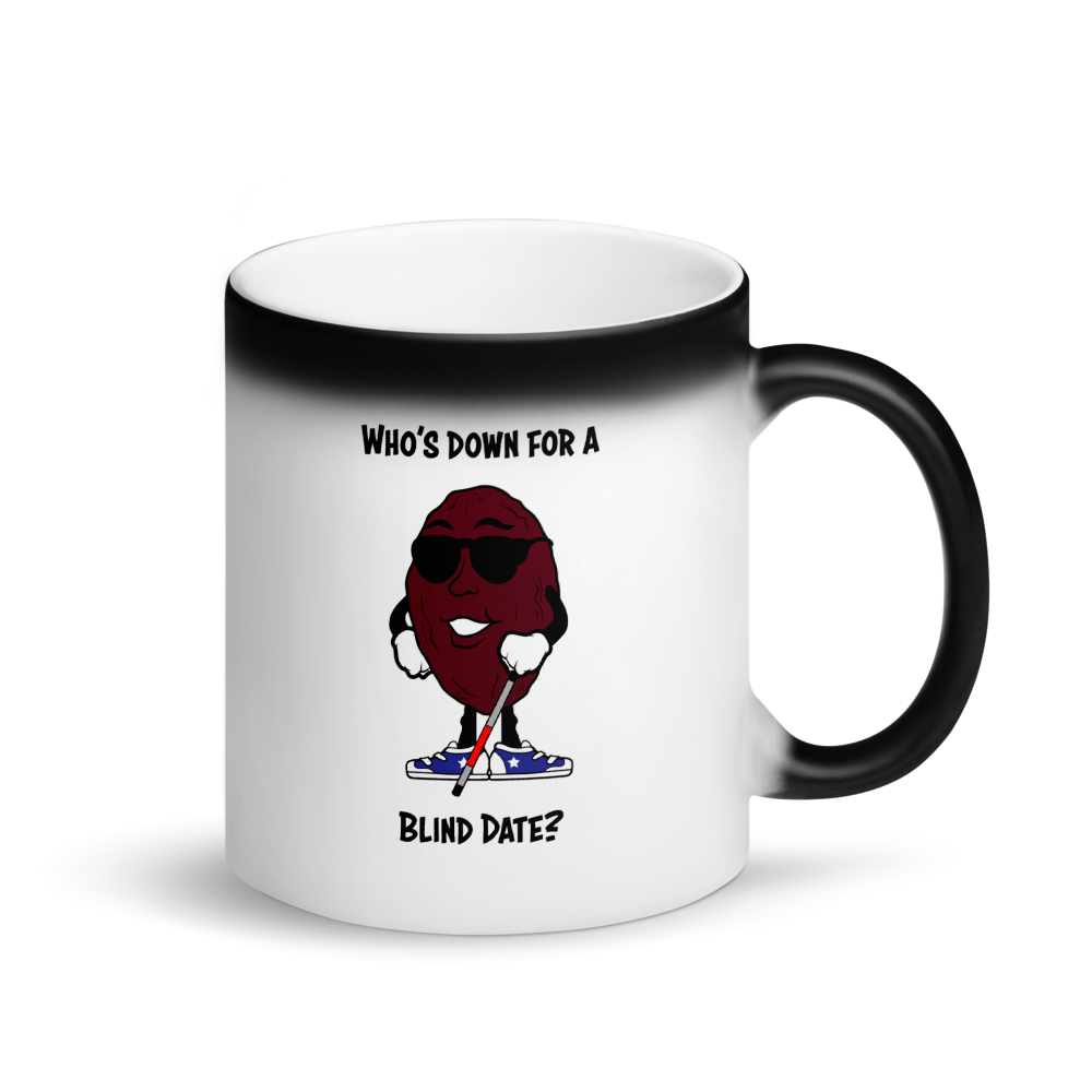 Blind Date Matte Black Magic Mug