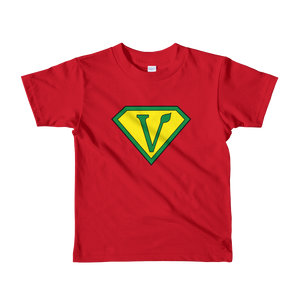 Vegan Superhero Short sleeve kids t-shirt