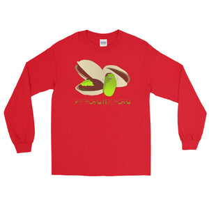 Pistachio Mustachio Long Sleeve T-Shirt