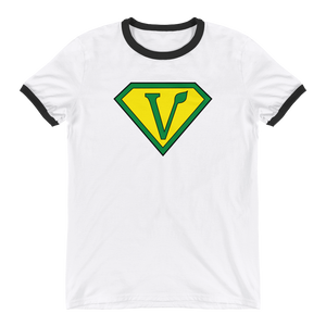 Vegan Superhero Ringer T-Shirt