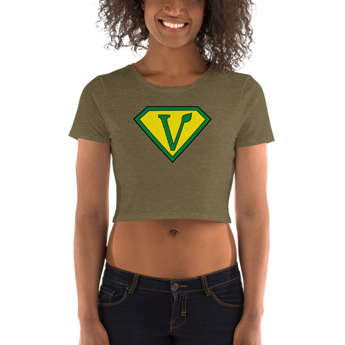 Vegan Superhero Women's Crop Tee