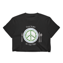 Peas Begins on Your Plate Women's Crop Top