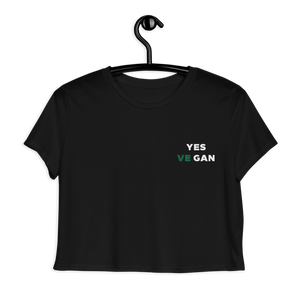 Yes VeGAN Flowy Crop Tee