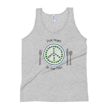 Peas Begins on Your Plate Unisex Tank Top