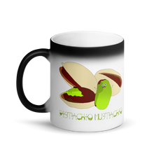 Pistachio Mustachio Matte Black Magic Mug