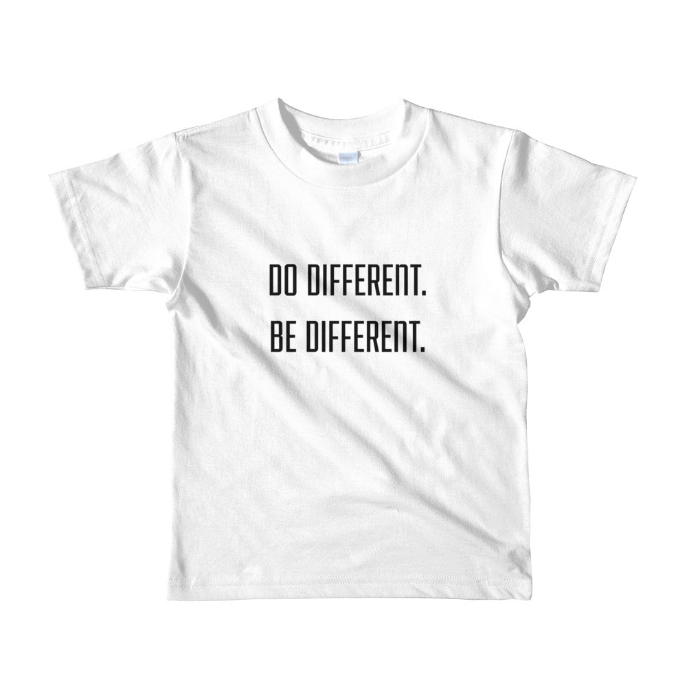 Do Different, Be Different Short sleeve kids t-shirt