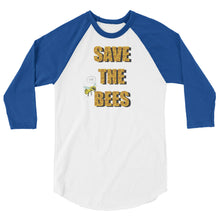 Save the Bees 3/4 sleeve raglan shirt