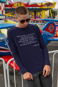 Genesis 1:29 Long sleeve t-shirt