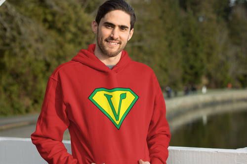 Vegan Superhero Hooded Sweatshirt
