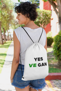 Yes VeGAN Drawstring bag