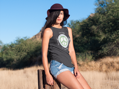 Peas Begins on Your Plate Ladies' Muscle Tank