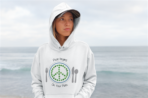 Peas Begins on Your Plate Unisex hoodie