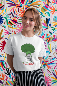 "Broccoli says ""Eat Mor Fruit"" Organic T-Shirt"