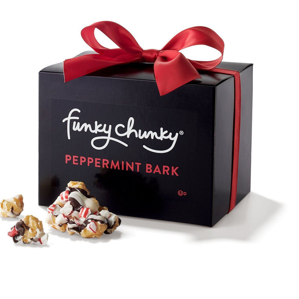 Peppermint Bark Gift Box (10oz.)-simple - SALE--Funky Chunky