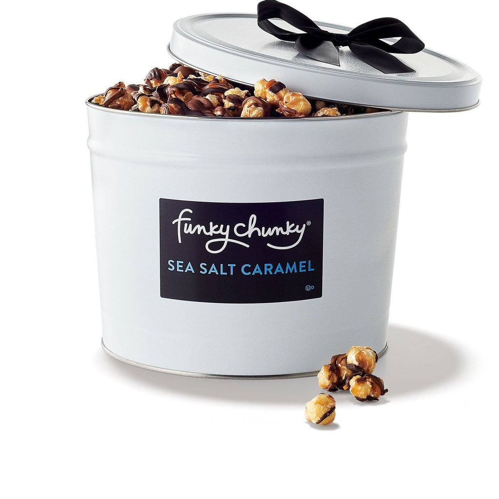 Sea Salt Caramel-configurable-Deluxe Gift Tin (5lb.)-Funky Chunky