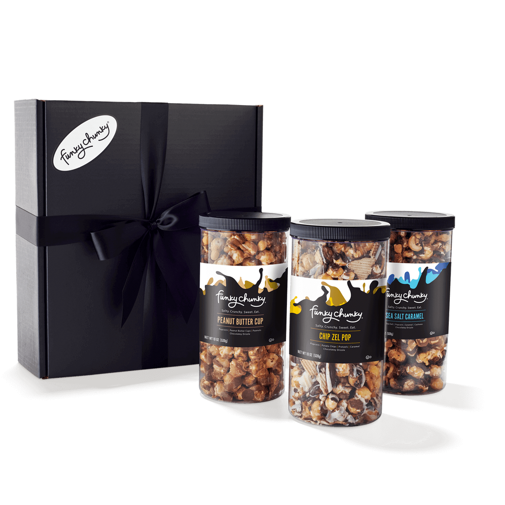Triple Flavor Gift Pack-configurable-Sea Salt Caramel / Chip Zel Pop / Peanut Butter Cup / Black Ribbon-Funky Chunky