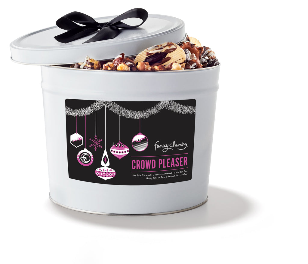 Holiday Crowd Pleaser Gift Tin (3LB)-configurable - SALE-No Ribbon-Funky Chunky