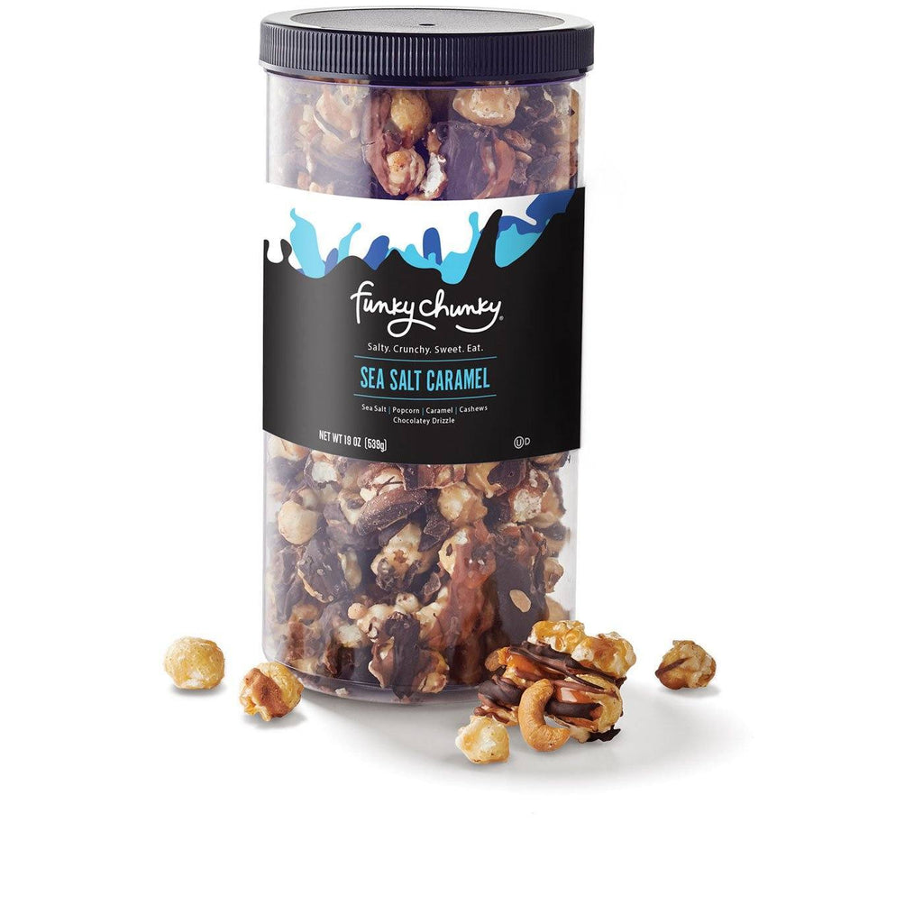 Sea Salt Caramel Tall Canister (19oz.) - Funky Chunky