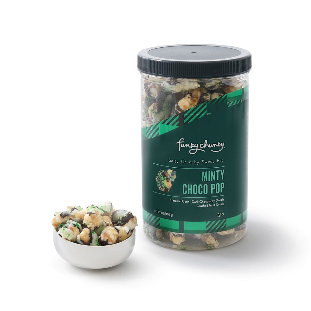 Chocolate Mint Christmas Popcorn