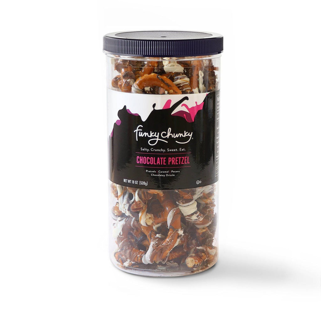 Chocolate Pretzel-configurable-Tall Canister (19oz.)-Funky Chunky