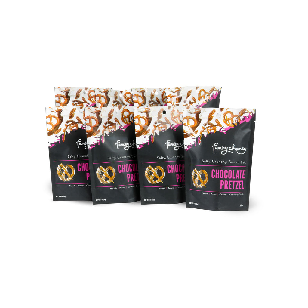 Chocolate Pretzel-configurable-2 oz (8 pack)-Funky Chunky