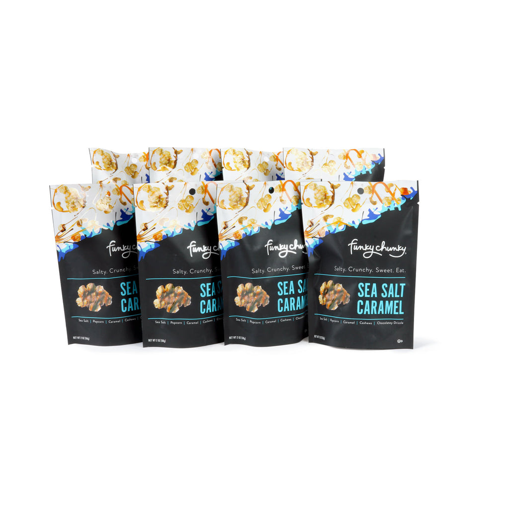 Small Bags | 2 oz - 8 pack-This delightful small bag is perfect for party favors, hospitality bags and stocking stuffers. Each bag contains two servings. Includes eight 2 ounce bags.-Funky Chunky
