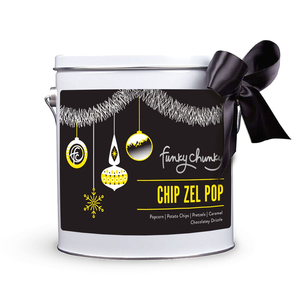 Holiday Collection Gift Pails (2LB)-configurable - SALE-Chip Zel Pop / No Ribbon-Funky Chunky