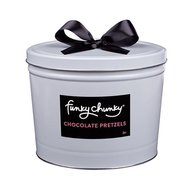 Chocolate Pretzel Deluxe Gift Tin (5lb.)-simple--Funky Chunky