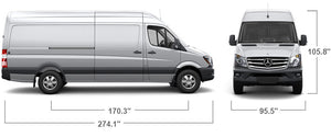 "Mercedes-Benz Sprinter 170"" WB Hi Roof, Glen Ridge Sub Zero Refrigerated Van Upfitting - Fresh"