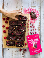 SkinnyDipped Almonds Raspberry Brownies