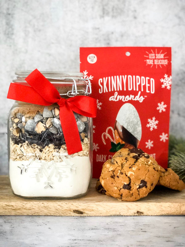 SkinnyDipped Almonds Peppermint Cookies In A Jar